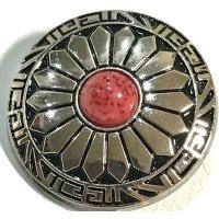 コンチョボタン シルバーレッド A 110